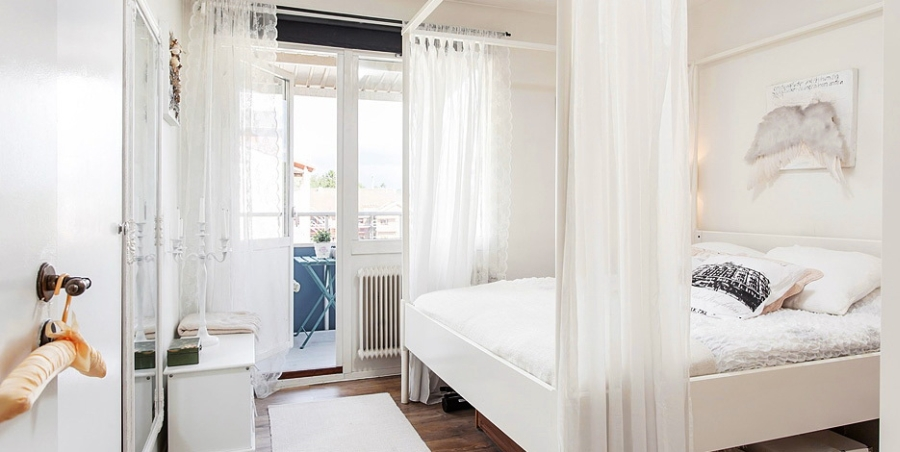 wystrój wnętrz, wnętrza, urządzanie mieszkania, dom, home decor, dekoracje, aranżacje, styl skandynawski, styl romantyczny, styl angielski, biel, miałe wnętrza, białe mieszkanie, sypialnia