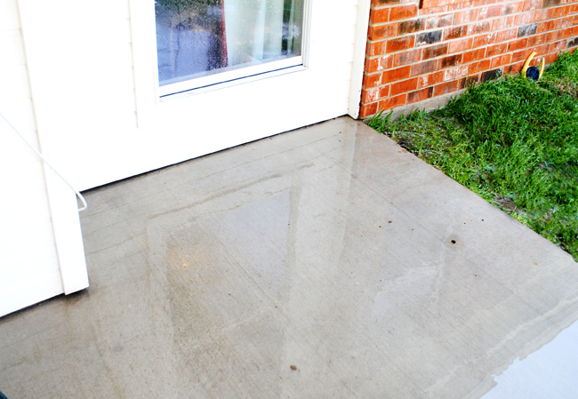 DIY Miracle Concrete Patio Cleaner - I Should Be Mopping The Floor: DIY Miracle Concrete Patio Cleaner