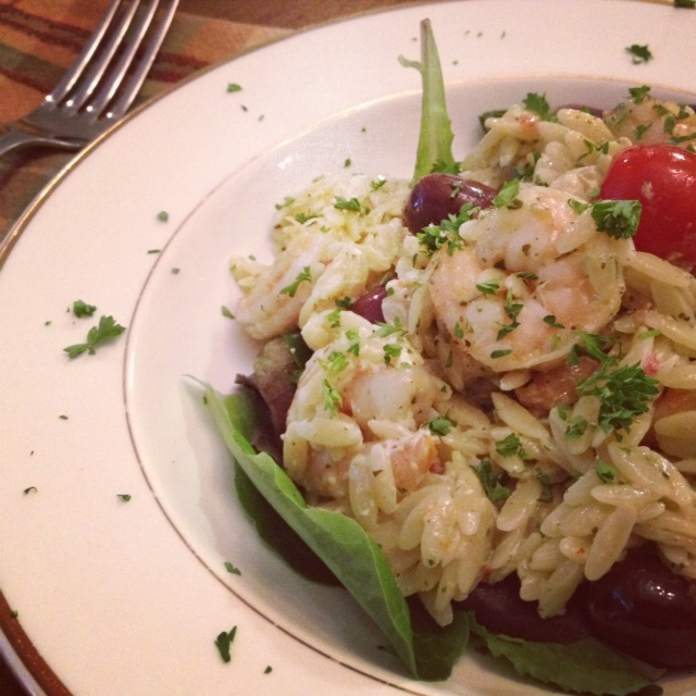 Mediterranean Shrimp Orzo