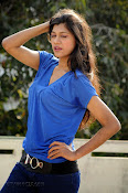 Sneha Tagore Photo shoot in Blue-thumbnail-7