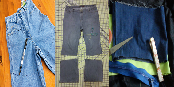 what to do with your old jeans
