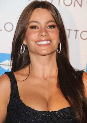 Sofia Vergara Diamond Hoop Earrings