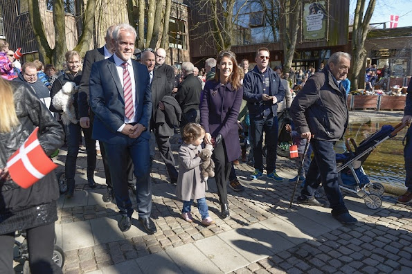 Princess Marie of Denmark and Prince Joachim of Denmark and Prince Henrik of Denmark and Princess Athena of Denmark visited Aalborg Zoo in Aalborg, Denmark.
