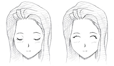 Manga Girl Eyes Closed