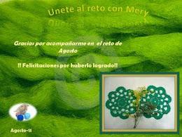 Certificado Unete al Reto con Mery del Club de Crochet