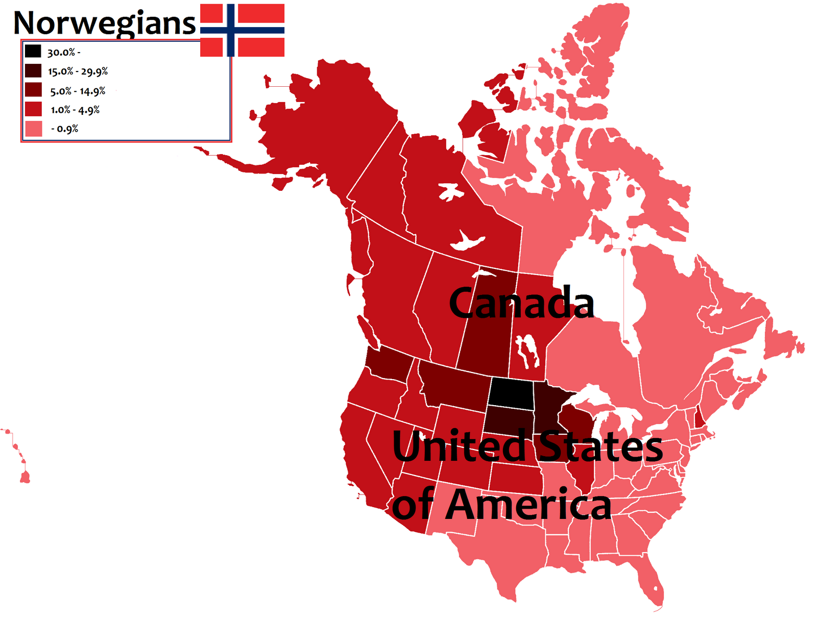 Radigan Neuhalfens Web Log North Dakota Is New Norway - Norway map wiki