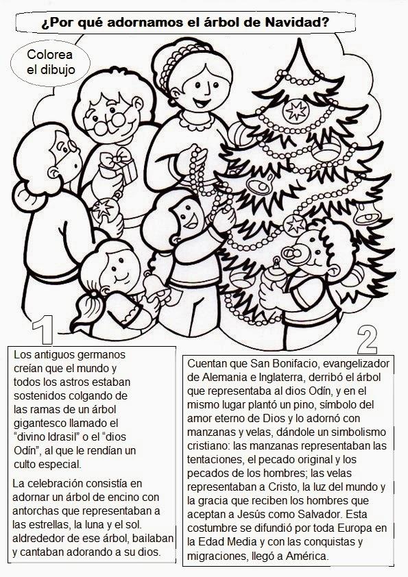 Clasedereli: Arboles de Navidad y leemos su historia