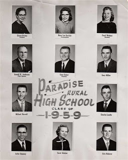 Paradise Educated In Memory Of Gary Miller Class Of 1959