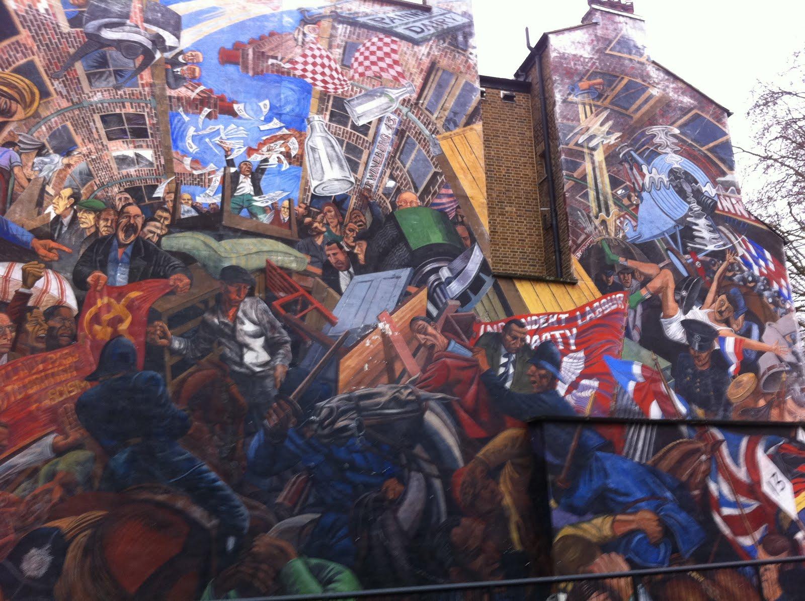 Emdad rahman all in a day 39 s work battle of cable street for Battle of cable street mural