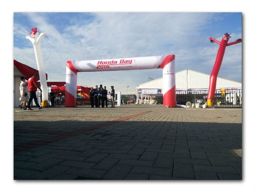 Balon Gate start finish HONDA Day