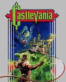 Imagen con la carátula del juego Castlevania, Konami, 1988