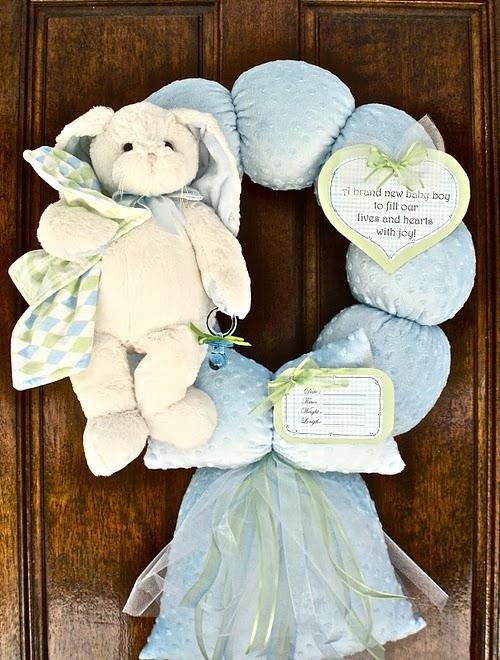 47. Blue Floppy Earred Bunny Wreath