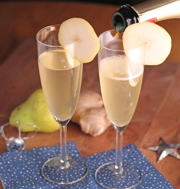 Pear & Ginger Champagne Cocktails | sweetpeasandsaffron.com