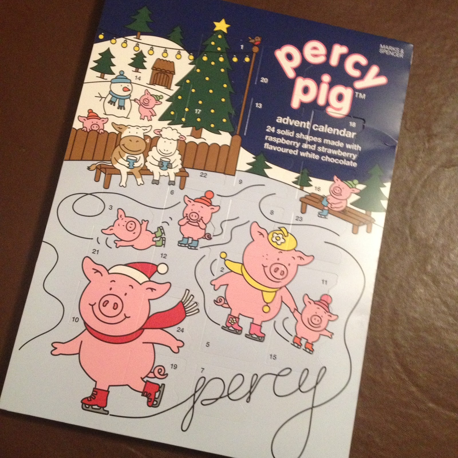 m&s percy pig advent calendar