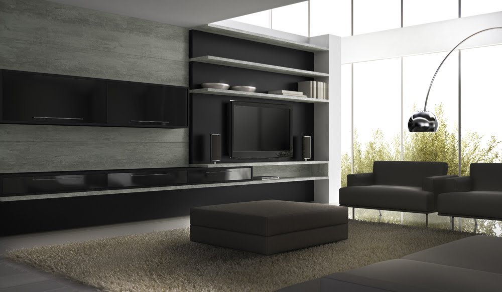 Neuma andrade designer sala de tv home theater - Sala home theatre ...