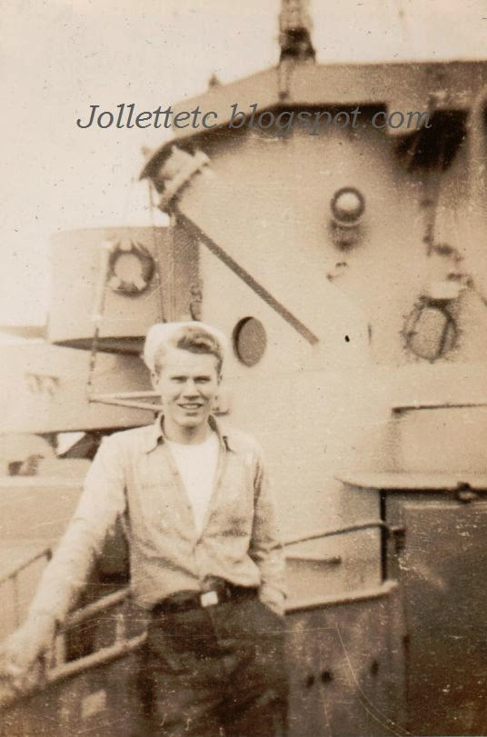 Unknown sailor on USCGC Eastwind 1946 or 47  http://jollettetc.blogspot.com