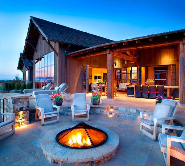 Estilo rustico casa rustica en montana for Casa en la montana