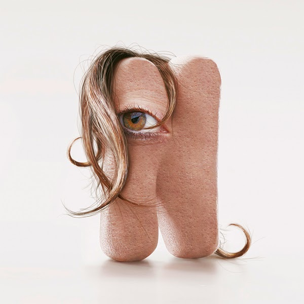 Shocking Hairy Typeface Made of Human Flesh7