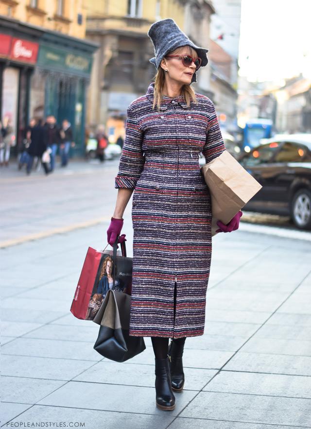 Đurđa Tedeschi ulična moda, street fashion December 2014