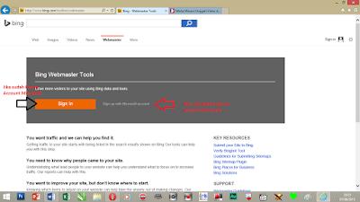 Daftar Bing Webmaster tools terbaru