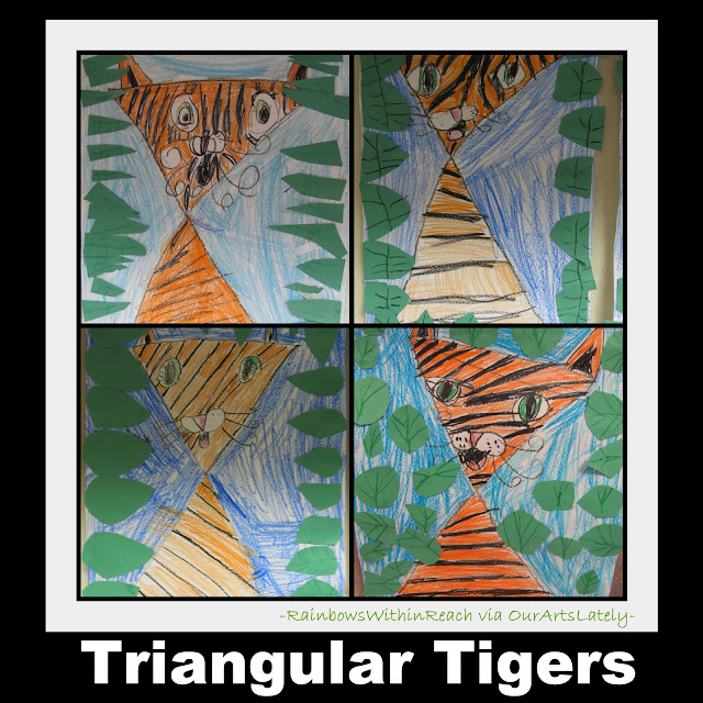 photo of: Tiger art project for zoo or jungle theme, tigers in elementary Art 