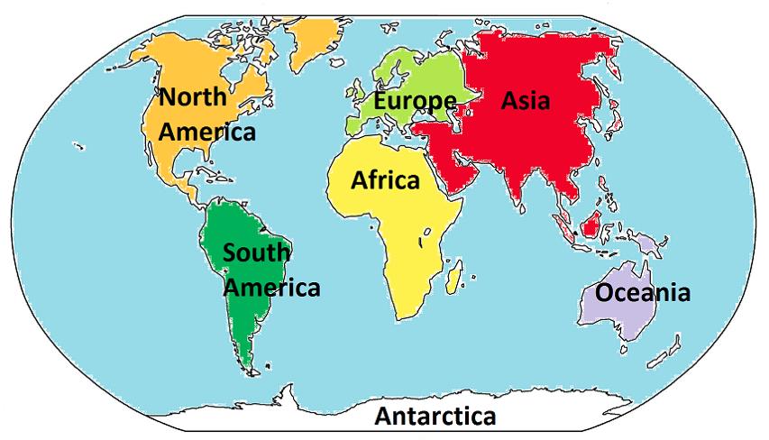 verdens kontinenter