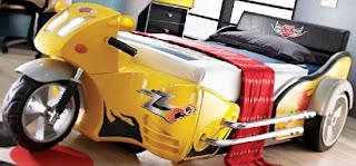 Motorbisiklet yatak modeli 550x256 Arabalı yatak modelleri