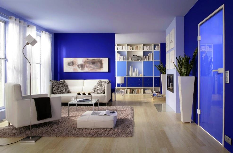 Salas azules salas con estilo - Colores azules para paredes ...