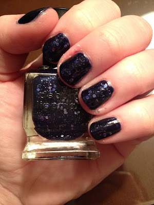 Deborah Lippmann, Deborah Lippmann Lady Sings The Blues, nail polish, nail varnish, nail lacquer, manicure, mani monday, #manimonday, nails, glitter nail polish