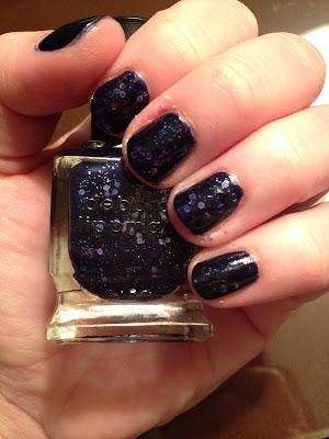 Deborah Lippmann, Deborah Lippmann Lady Sings The Blues, nail polish, nail varnish, nail lacquer, manicure, mani monday, #manimonday, nails, glitter nail polish