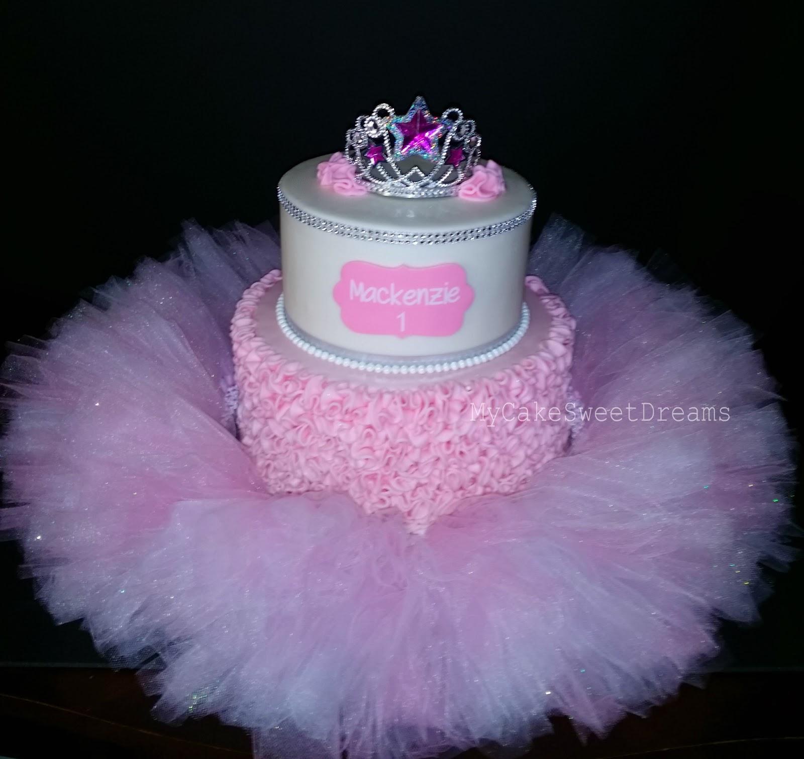 My Cake Sweet Dreams Pink Ruffle Tutu Princess Cake