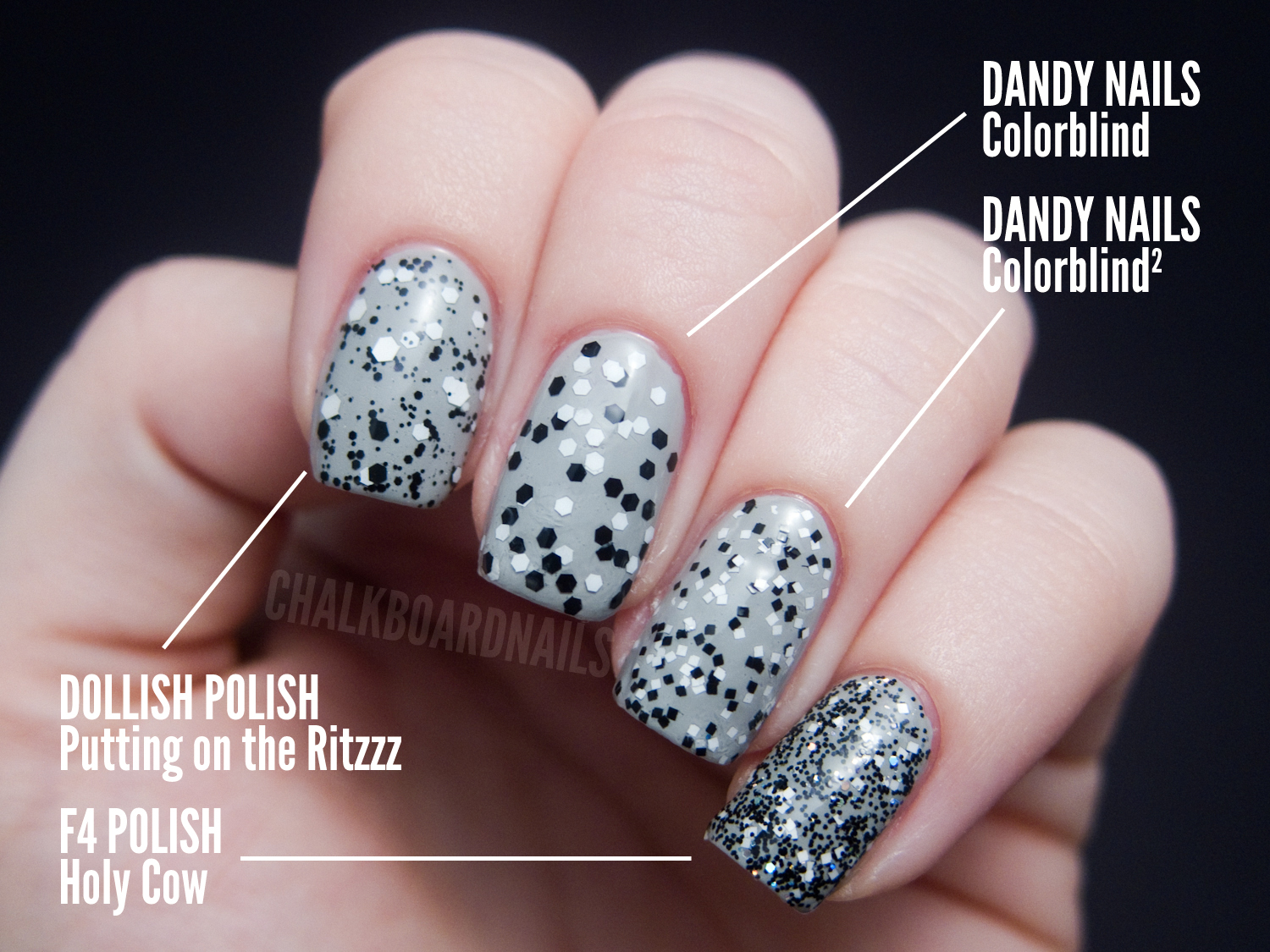 the ultimate black and white glitter comparison post | chalkboard