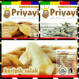 PRIYAYI CHIPS made in Purworejo, Central Java. CP: 085743369306, PIN BBM: 51FB363A