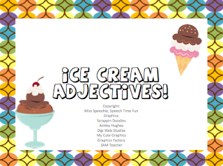 descriptive on ice cream Describing with adjectives that paint a picture and appeal to the  in should i  share my ice cream, gerald the elephant describes his ice.