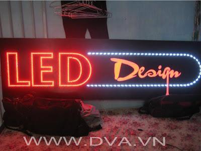 nhận làm LED, bảng hiệu Led, bảng hiệu Mica, Inox.