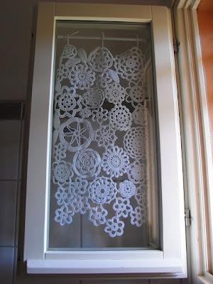 Crochet Doily Curtain
