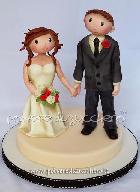 cake topper coppia di sposi