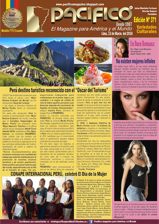 Revista Pacífico Nº 371 Variedades culturales