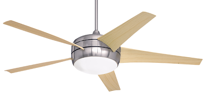 Spining ceiling fans clockwise in winter helps keep warm air where it is needed