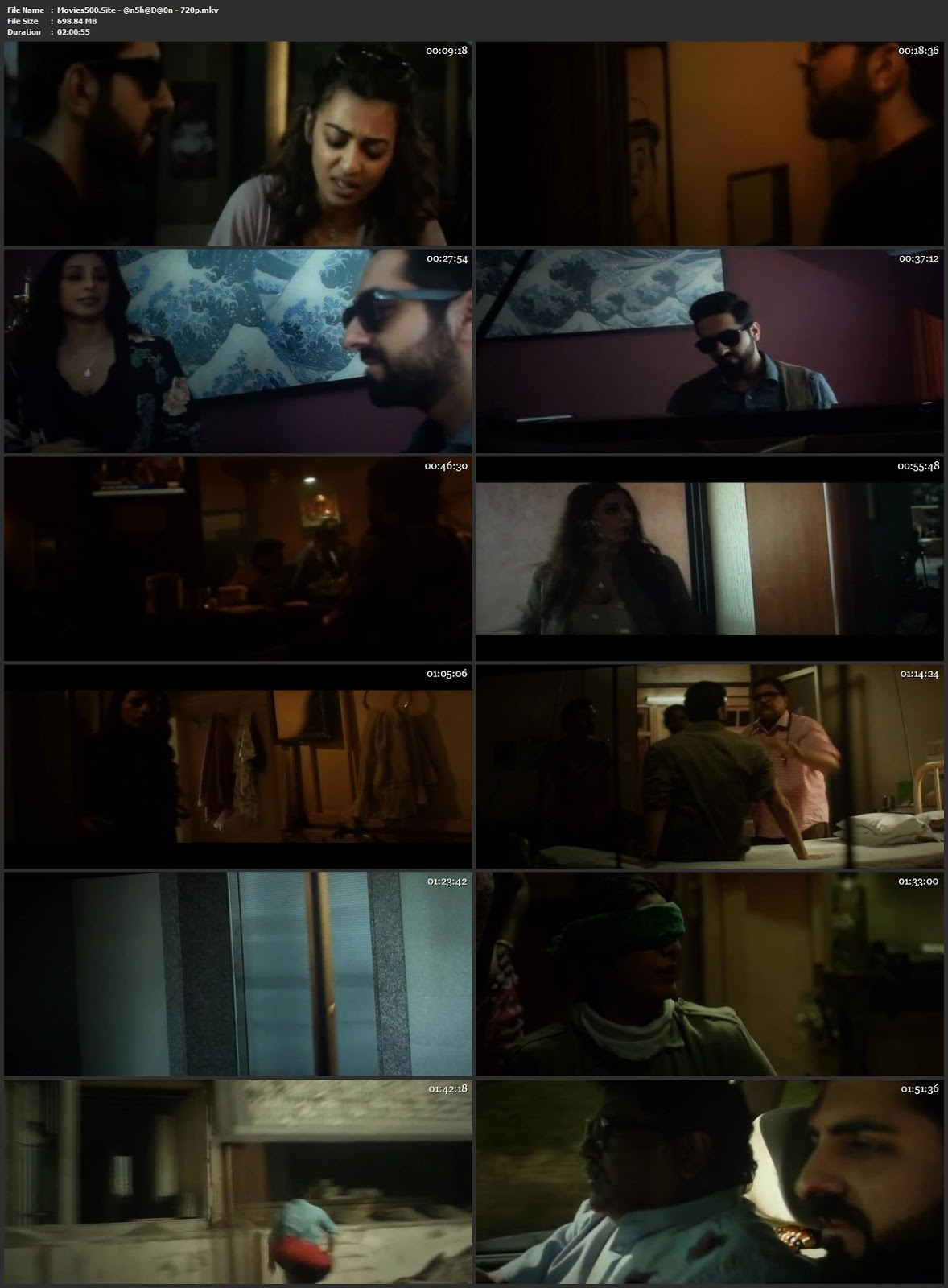 Andhadhun 2018 Hindi Full Movie pDVDRip 720p
