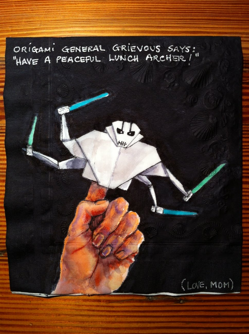 Daily Napkins Origami General Grievous For Archer
