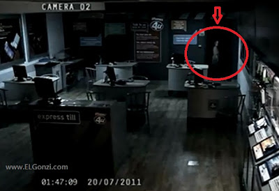 video fantasma camara de seguridad