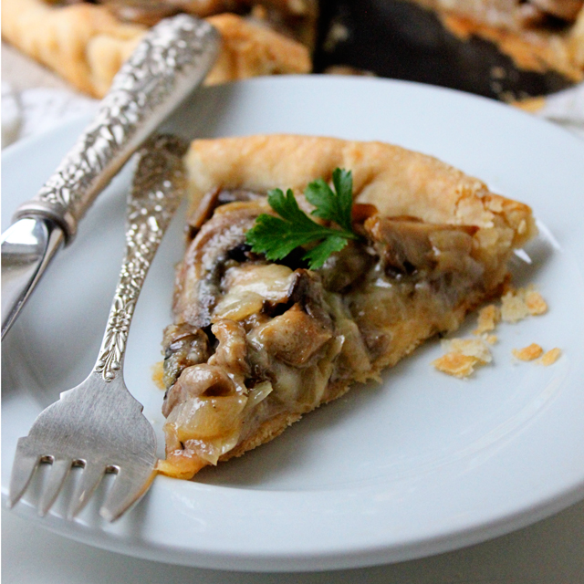 me this creamy earthy mushroom tart is quintessential comfort food