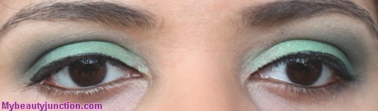 Green EOTD with Sephora Blockbuster eyeshadows