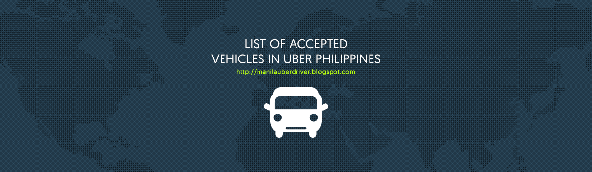list of accepted vehicles in uber manila philippines