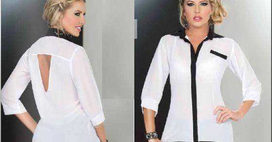 tendencias blusas en blanco y negro
