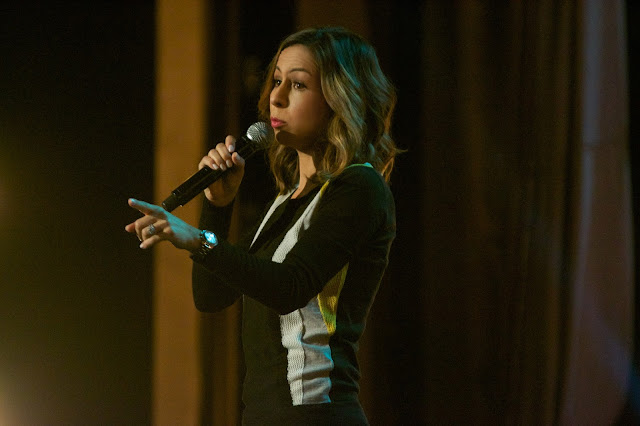 "Anjelah Johnson in the Netflix Original ""Anjelah Johnson: Not Fancy"". Photo Credit: James Kronzer for Netflix, Inc."