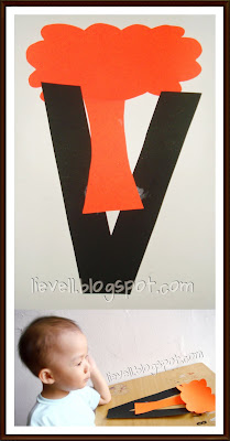 V Is For Volcano Clipart Simply-hood: Craft : L...