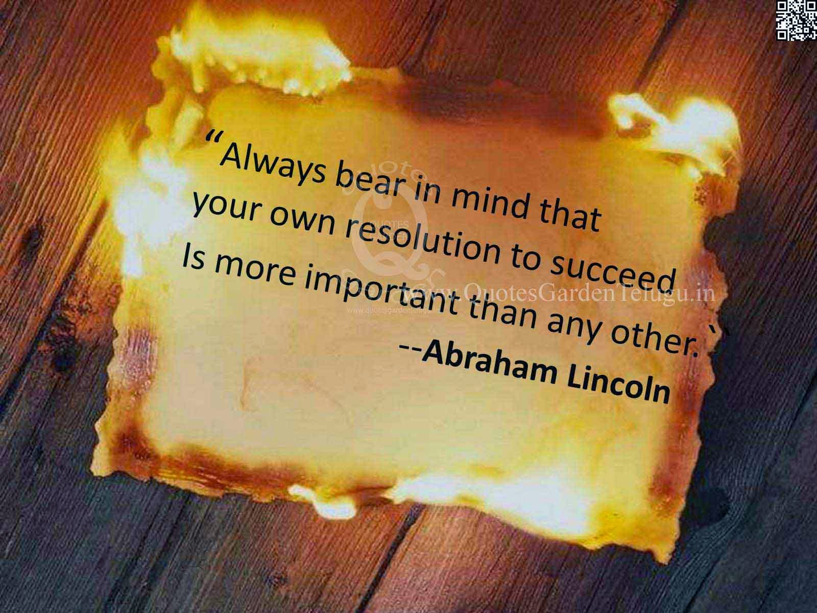 Inspirational Success Quotes from Abraham Lincoln