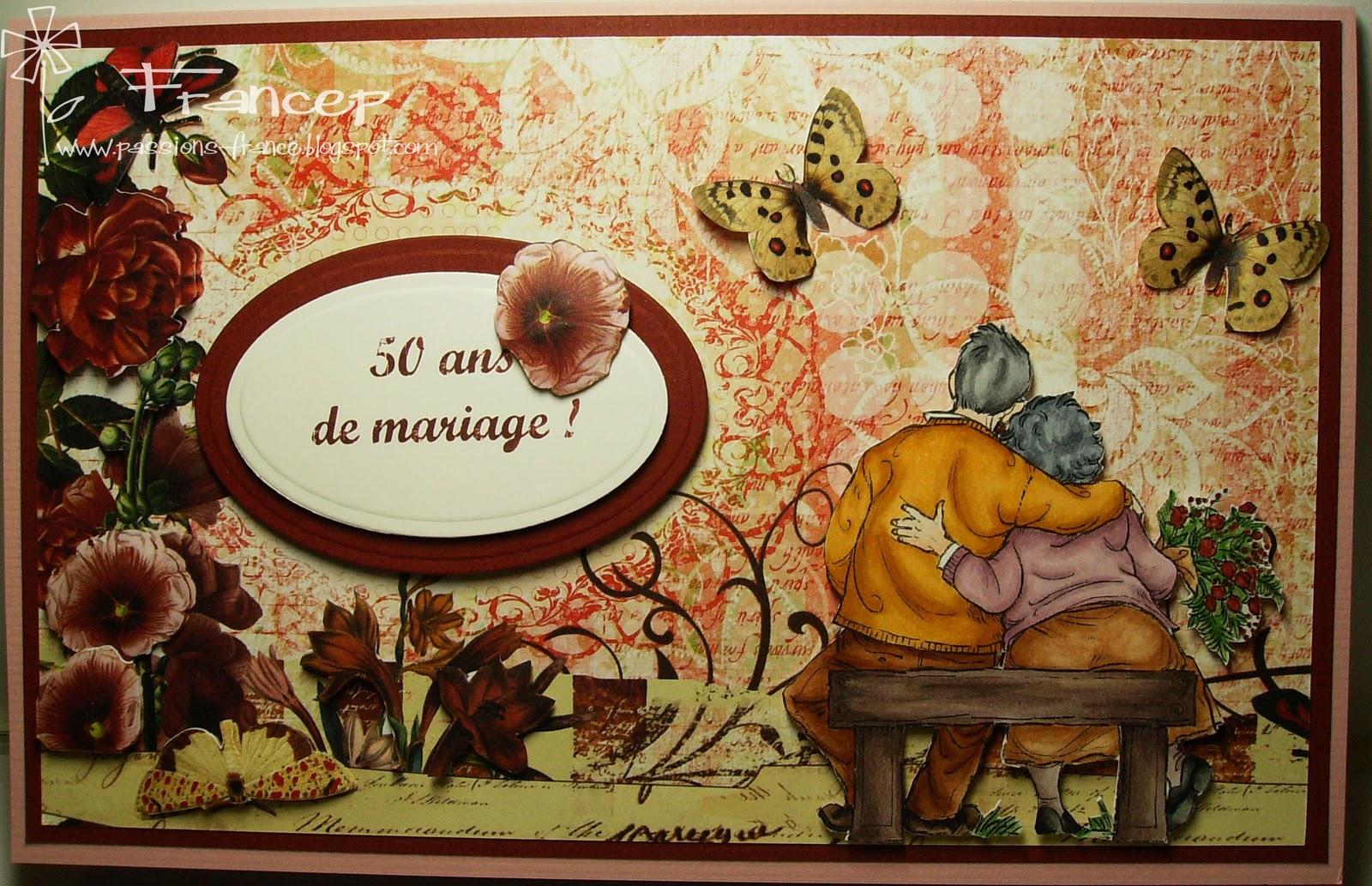 Carterie et autres projets octobre 2011 for 50e anniversaire de mariage